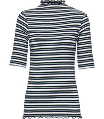 5x5 dream stripe trutte short t-shirts & tops short-sleeved blå mads nørgaard