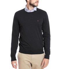 sweater slim core negro tommy hilfiger