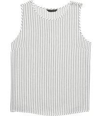 blusa shoulder tencel stripe blanco banana republic