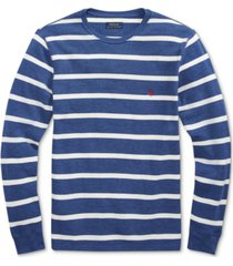polo ralph lauren men's striped waffle-knit pajama shirt