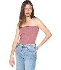 crop top rojo-blanco active