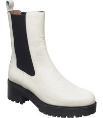 e-6114 willer shoes boots ankle boots ankle boot - heel creme wonders