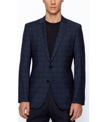 boss men's checked slim-fit jacket