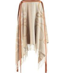 loewe wool and cachemire skirt