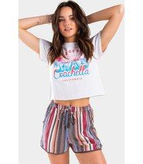 nikki striped shorts - multi