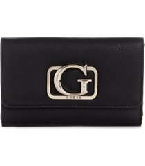 billetera annarita slg multi clutch negro guess