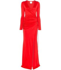 allegra ruched waist maxi dress