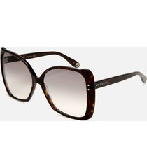 gucci women's butterfly acetate sunglasses - havana