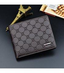 billetera super- billetera billetera de cuero corta-marrón
