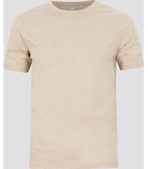 randig t-shirt i bomull - ljusbrun