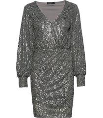 slnicole dress korte jurk zilver soaked in luxury