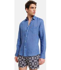 peninsula swimwear shirt cala di volpe linen