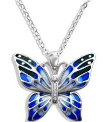 collar mariposa azul arany joyas