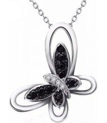 collar mariposa negro blanco casual plata 925 arany joyas