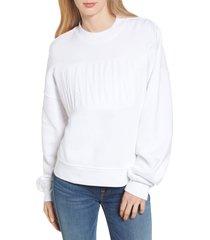 women's 7 for all mankind mankind embossed sweatshirt