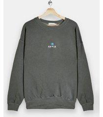mens khaki paris overdye sweatshirt