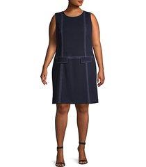 plus stitched shift dress