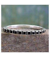 onyx bangle bracelet, 'fast track' (india)