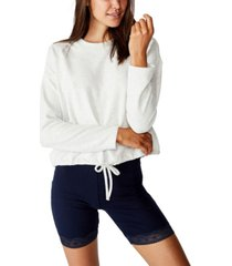 cotton on super soft draw cord crew top