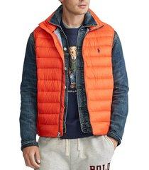 chaqueta packable down naranja polo ralph lauren