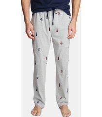 nautica men's cotton lighthouse-print pajama pants