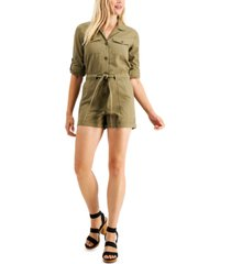 guess lydia cotton utility romper