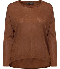 knitted pullover long 1/1 slee stickad tröja brun betty barclay