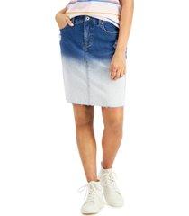 style & co bleach-dye denim skirt, created for macy's