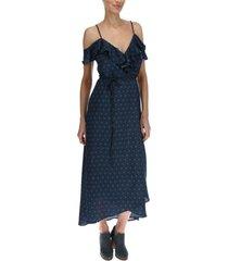 vestido largo mujer cadiz azul rockford