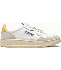 sneakers autry low colore bianco giallo