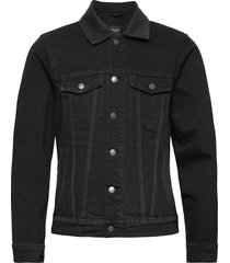 anf mens outerwear jeansjack denimjack zwart abercrombie & fitch
