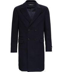 z zegna blue wool coat