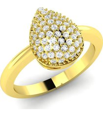 0.60ct 14k yellow gold finish pear shape simulated shape engagement ring