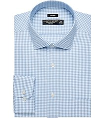 pronto uomo french blue check dress shirt