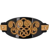 a.n.g.e.l.o. vintage cult 1980s bead-embellished wide belt - black