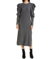 ted baker london victoria long sleeve sweater dress, size 3 in dark grey at nordstrom