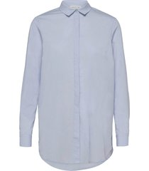 organic cotton tunica ls overhemd met lange mouwen blauw rosemunde
