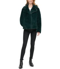 dkny faux-fur coat, created for macy's