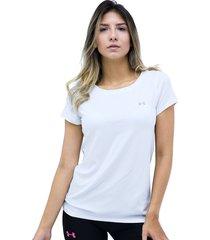 camiseta blanco under armour hg armour ss