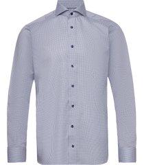 micro flower shirt overhemd business blauw eton