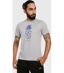 camiseta gris-azul reebok chill pineapple