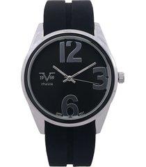 reloj negro-plateado versace 19.69