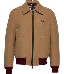 hcm tailored bomber jacket bomberjacka jacka brun tommy hilfiger