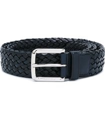 church's square buckle woven belt - blue