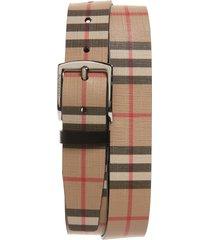 men's burberry check belt