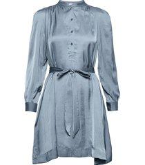 retouch satin dress kort klänning blå zadig & voltaire