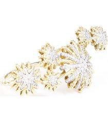 david yurman starburst double diamond ring gold sz: 7-7.5