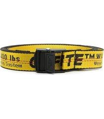 mini industrial belt, yellow and black