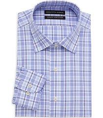 classic-fit plaid dress shirt