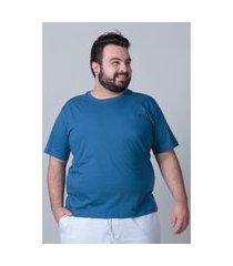camiseta básica masculina plus size azul camiseta básica masculina plus size azul m kaue plus size